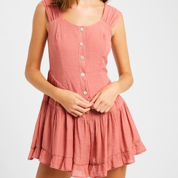 Pants - TEXTURED RUFFLE FLARE BUTTON DOWN ROMPER